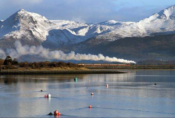 Ffestiniog Railway train snowdonia