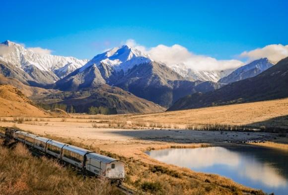TranzAlpine railway train railway New Zealand