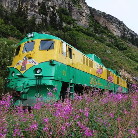 white pass Yukon route Alaska train