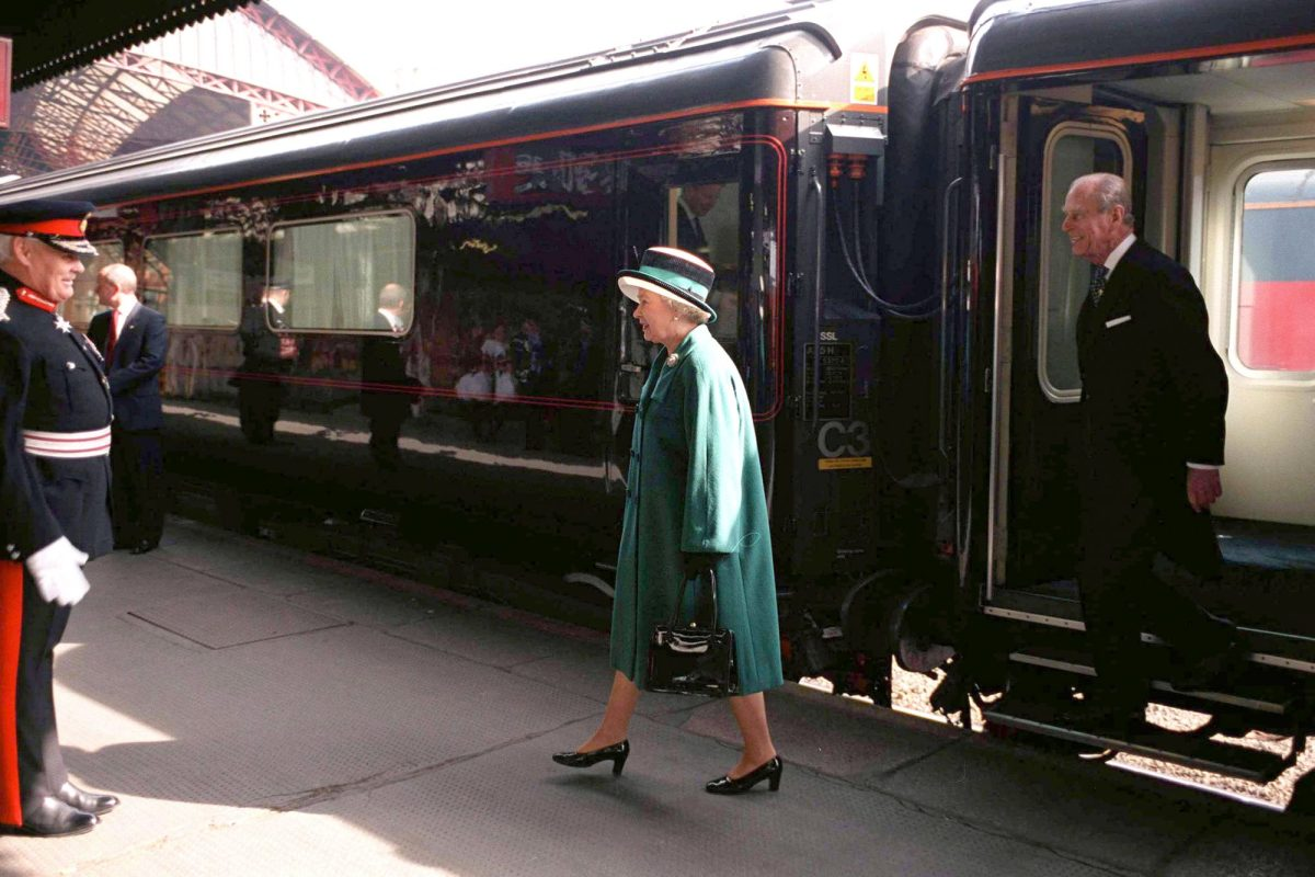 royal train the queen and prince philip