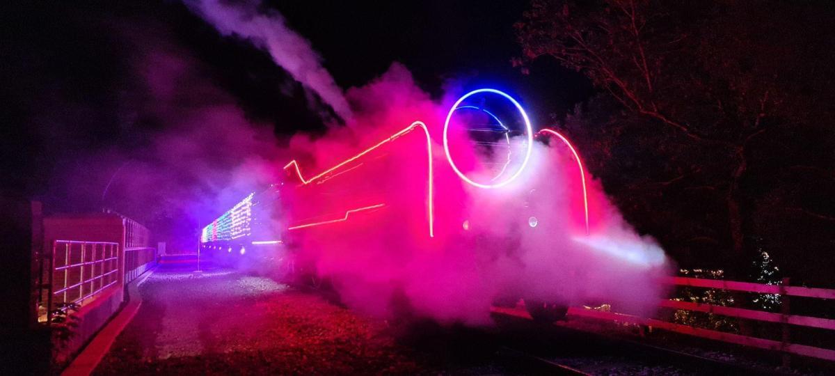 steam train steam light