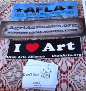 AFLA attended numerous Farmers Markets in 2012, this is a shot from one of them