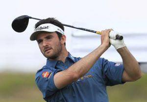 Emilio Cuartero Blanco (ESP) on the 1st tee during Round 1 of the Challenge de Madrid, a Challenge Tour event in El Encin Golf Club, Madrid on Wednesday 22nd April 2015. Picture: Thos Caffrey / www.golffile.ie