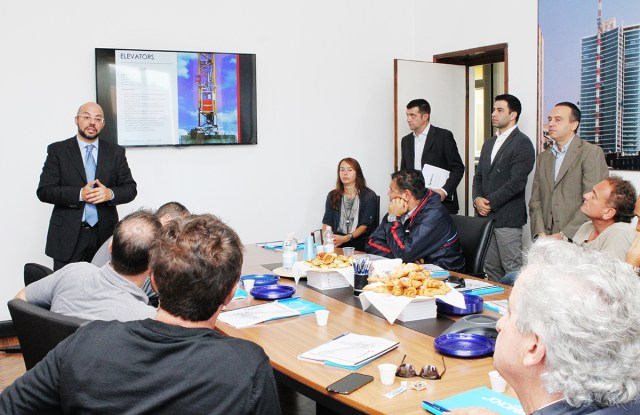 The Ontario Formwork Association visits Raimondi Cranes headquarters in Italy