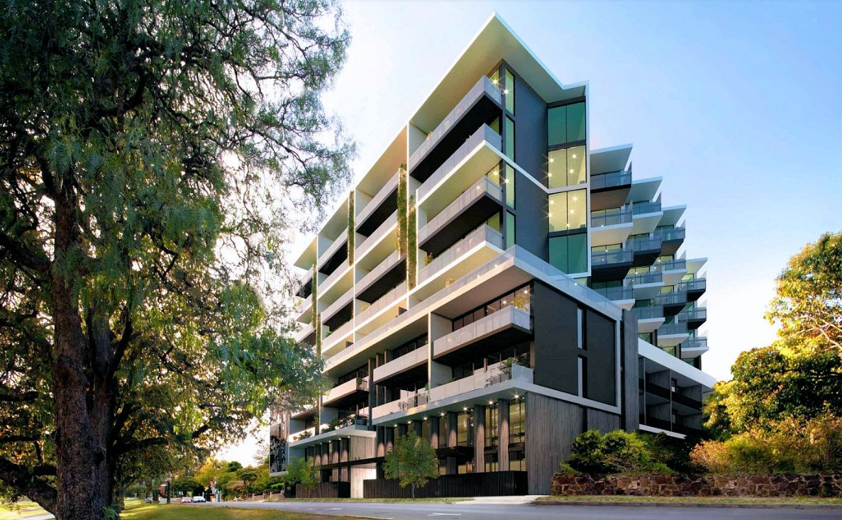 A rendering of the Astrina 5 Irving Avenue, Box Hill development. Image courtesy Desyne Developments