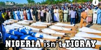 Photo taken in Nigeria, after members of Boko Haram killed at least 40 rice farmers.