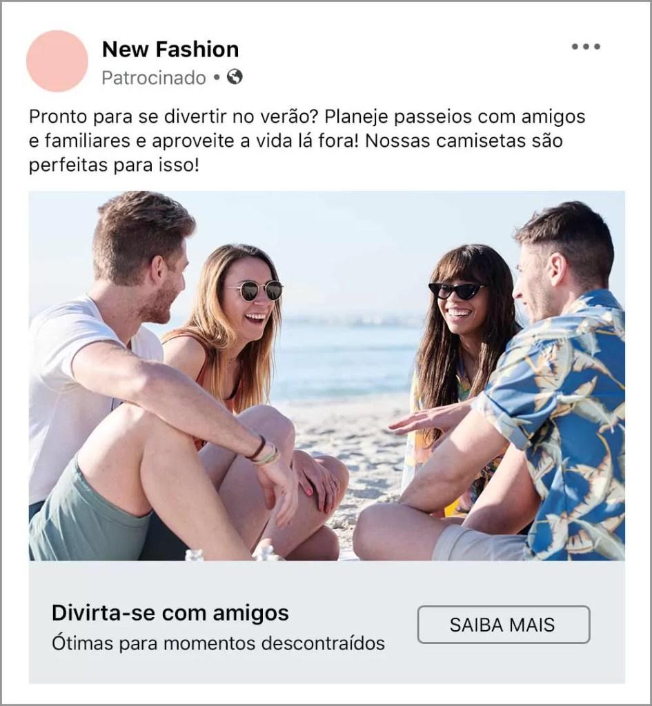 Escola de anúncios do Facebook Imagem Anuncio B