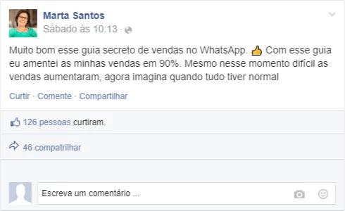 Marta Santos depoimento guia secreto whatsapp