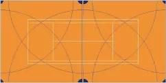 Схема полива теннисного корта