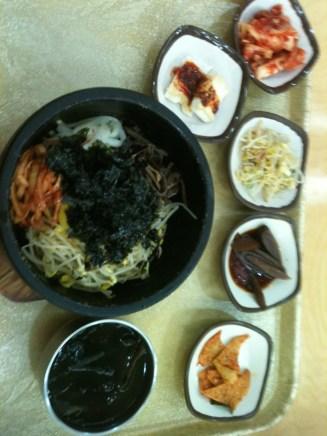 Bibimbap in Seoul city center, probably at a jijimbang.