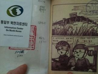 Illegal snaps of N.Korean political graphic novels.