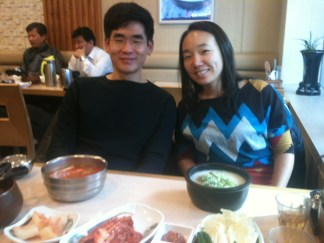 I go out for oxtail soup with my lovely hosts and friends Demian Ben Lee and Jinyoung.