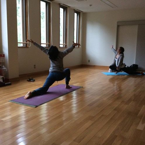 Chika leads her triweekly yoga class, encouraging us to open our hearts to the sky and to each other. Check out her blog at http://blog.goo.ne.jp/pelanchika. She is a Renaissance woman, strong mother of two, and glows with warmth and wisdom. You'll not regret visiting her yoga studio on the island.