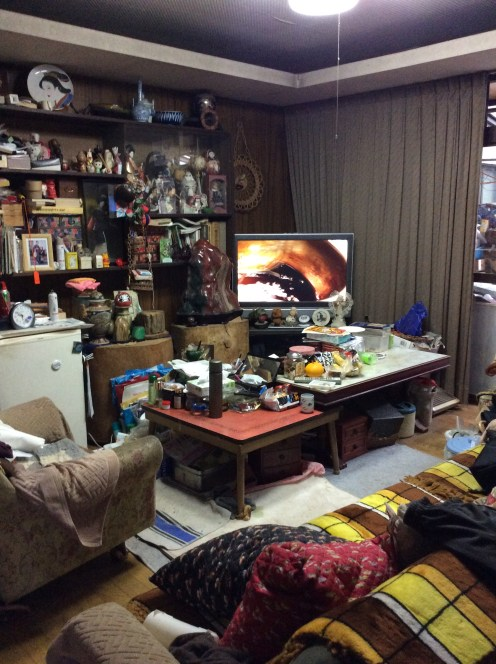 Obachan's living room. I've been here many times in my youth.