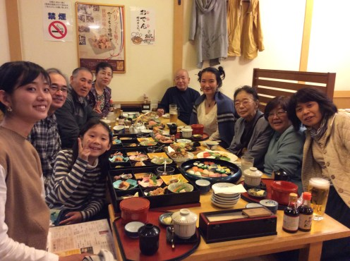 A family feast welcoming my arrival to Nagasaki.