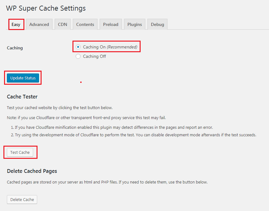 How to Add Caching Engine to WordPress Website - WP Super Cache Setup Easy