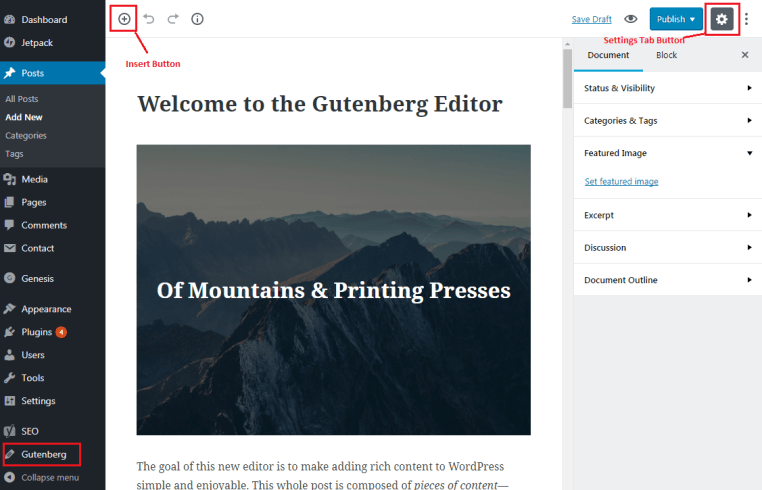 How to Add GUTENBERG Visual Editor to WordPress - Demo