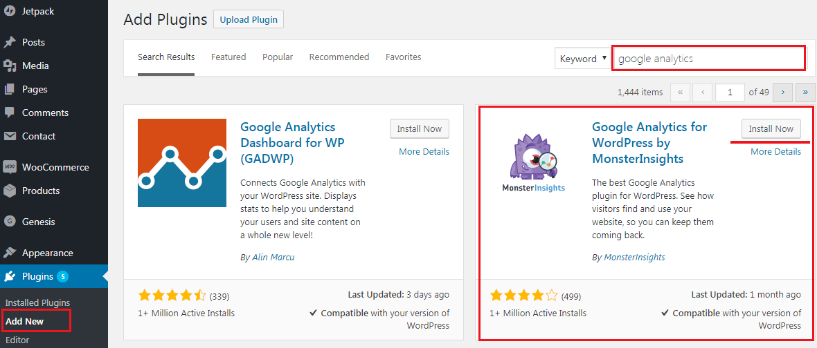 How to Add Google Analytics to WordPress Website - Installing Google Analytics Plugin