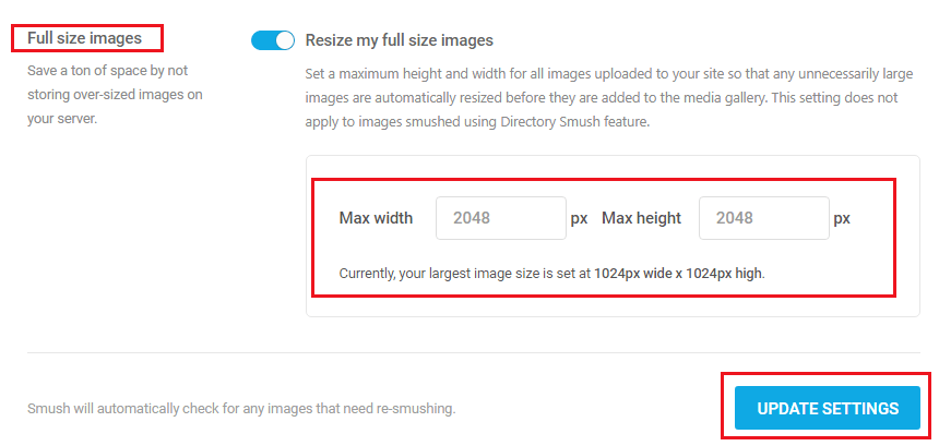 How to Compress and Optimize Image on WordPress - WP Smush Full Size Images