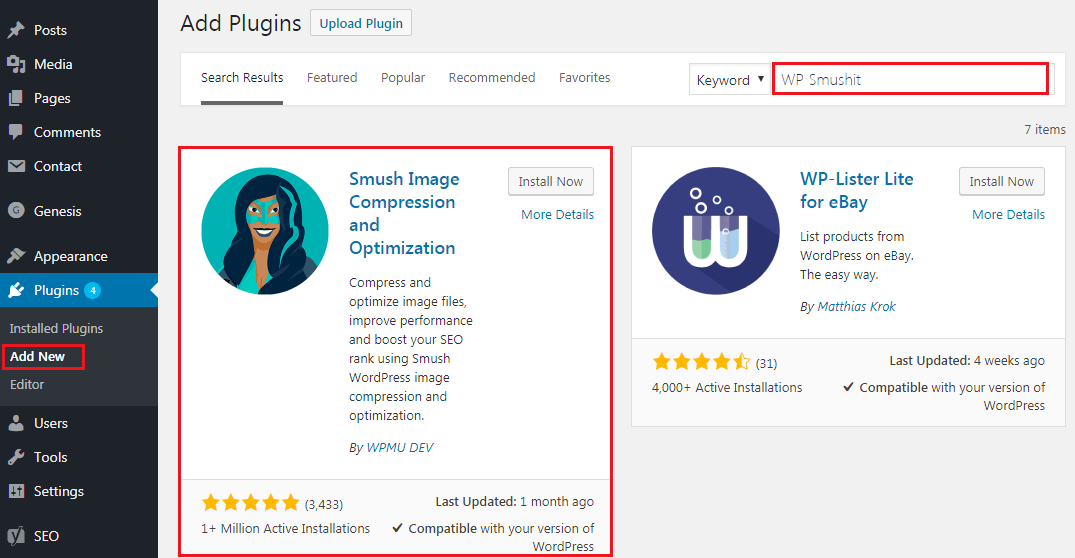 How to Compress and Optimize Image on WordPress - WP Smushit Plugin Instalation