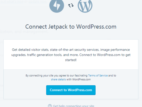 How to Jetpack Your WordPress Website - Connect with WordPress