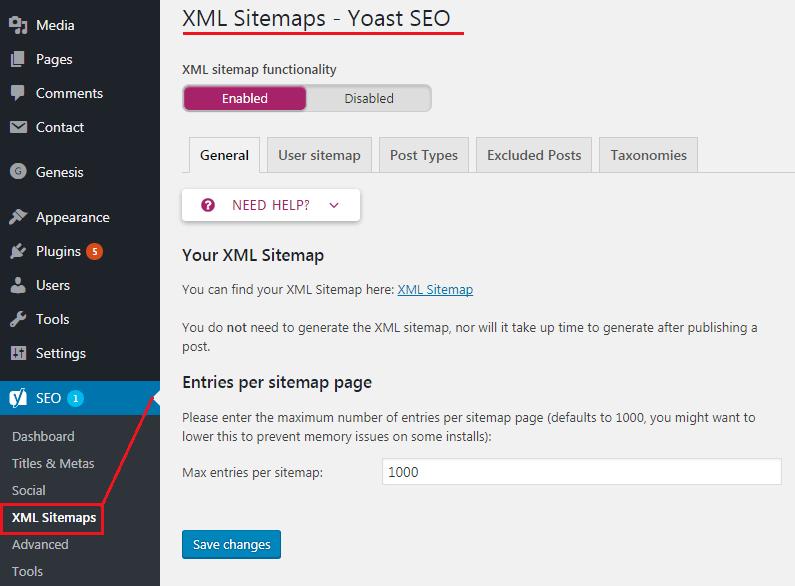 How to do WordPress SEO technically (OnPage Guide) XML Sitemaps