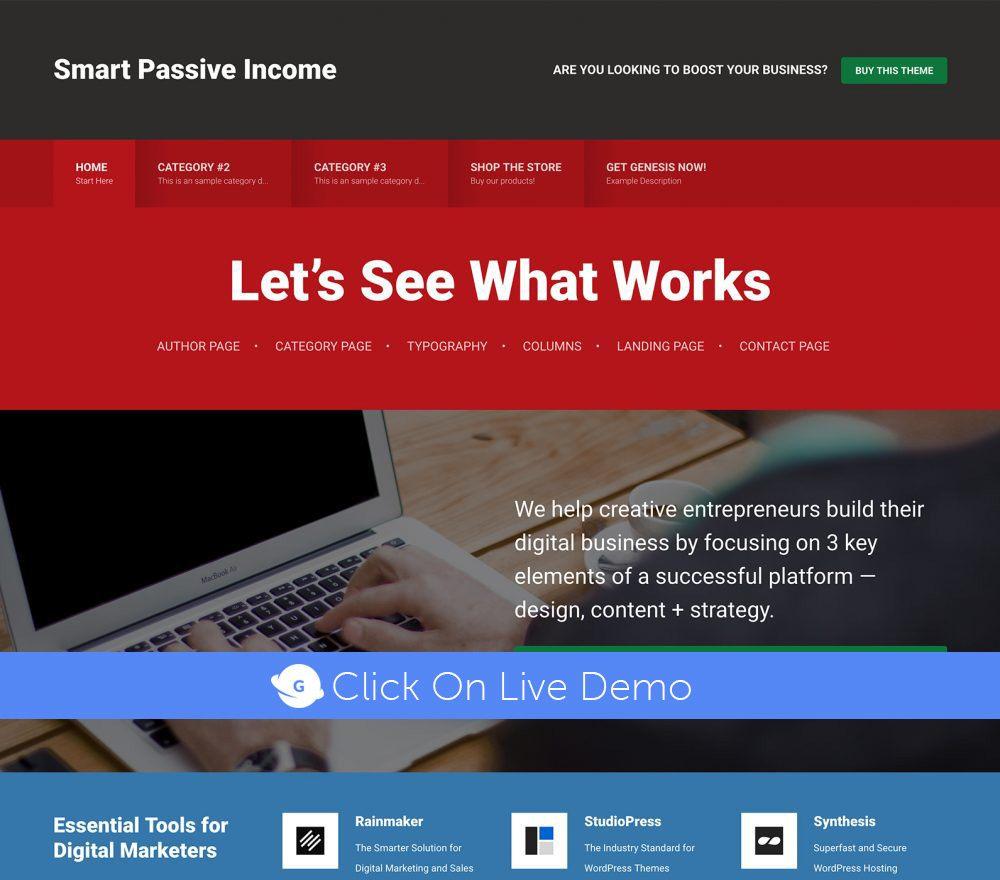 Smart Passive Income Pro Theme Review