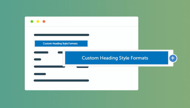 Add Custom Heading Style Formats to WP Visual Editor Without Plugin (RainaStudio Map 101)