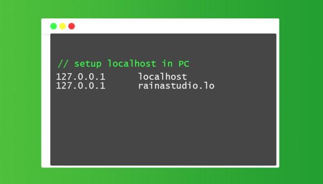 How to setup localhost