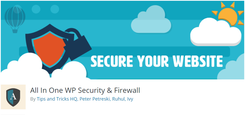 All in One WordPress Security and Firewall Plugin