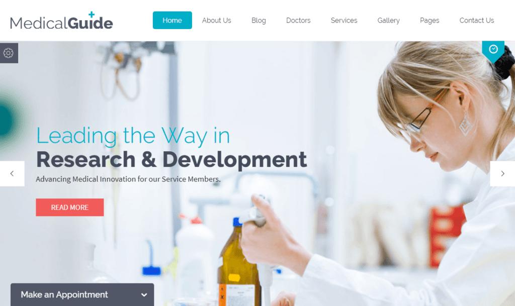 MedicalGuide - Health and Medical WordPress Theme