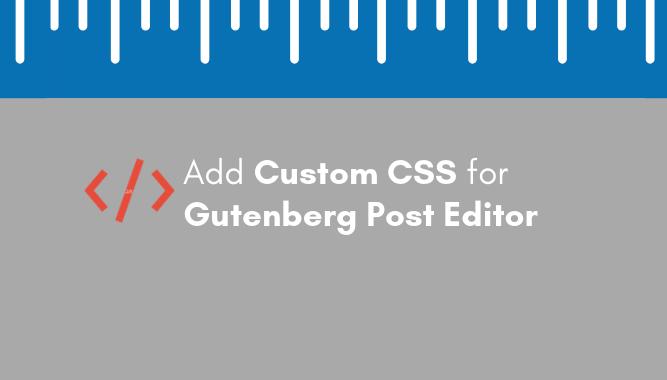 Add Custom CSS to WordPress 5.0 Admin