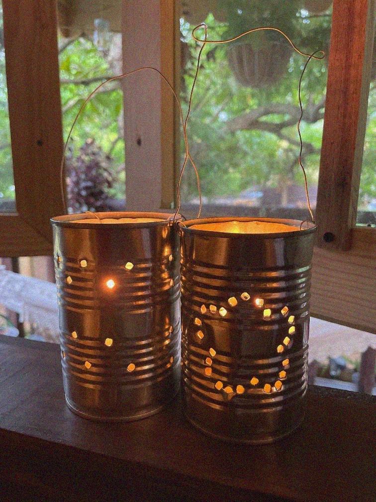 Little House On The Prairie DIY Tin Can Lanterns