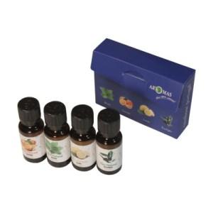 Caixa óleos sortidos 20ml (4 unid.)