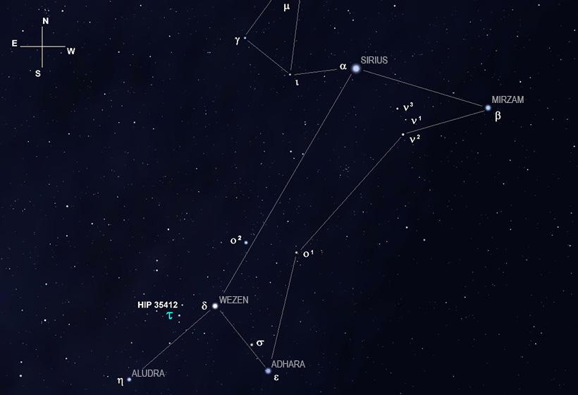 Созвездие Большого пса (Canis Major)