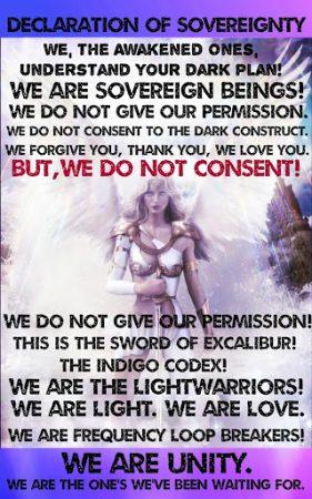 Медитация Фиолетового Пламени для балансировки энергии в течение периода Белтейн Declaration2Bof2BSovereignty-281x450