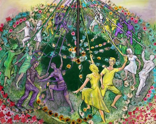 Медитация Фиолетового Пламени для балансировки энергии в течение периода Белтейн The2BLast2Bof2Bthe2BMaypole2BDancers252C2Bby2BIlsa2BElford