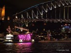 Vivid boat & bridge