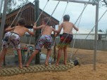 The new swing holds 6 littlies.