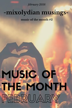 MUSIC OF THE MONTH