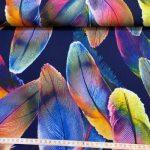 Rainbow stoff med fjær