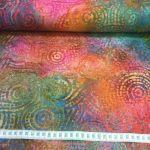 Batikk bomulls kanvas rainbow