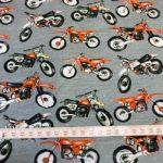Bomullsjersey  med motorsykler