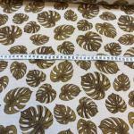 Bomulls kanvas brune blader