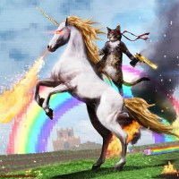 The internet in one picture #internet #web #horse #unicorn #laser #castle #rainbow #cat #ninja #swag #beautiful #beauty #awesome #wonderful #perfect #kush