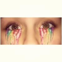 I bleed the rainbow #Myedit #eyeedit #rainbow #bleed #cooliguess #picsart
