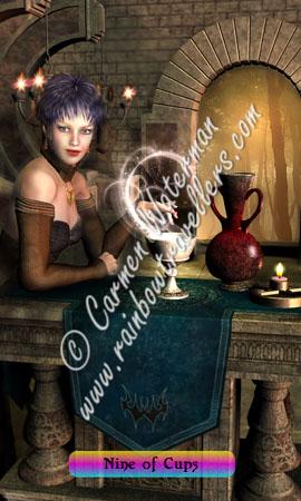 © 2015 Carmen Waterman - Nine of Cups