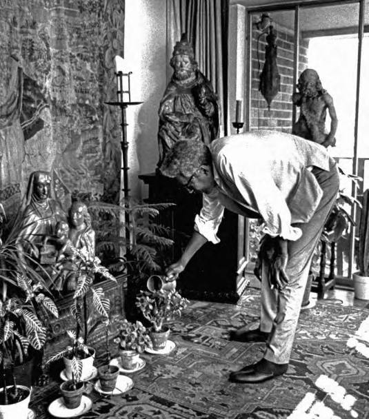 Bayard Rustin at his apartment. Courtesy Walter Naegle.