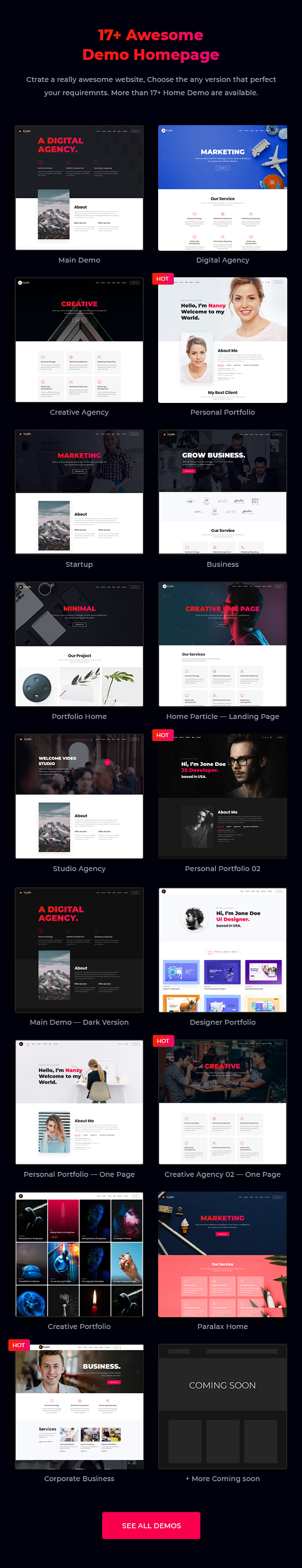 Trydo - Creative Agency & Portfolio WordPress Theme - 6