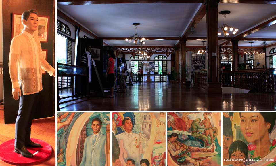 Ferdinand Marcos museum and a mural at Congresswoman Imelda Marcos' office